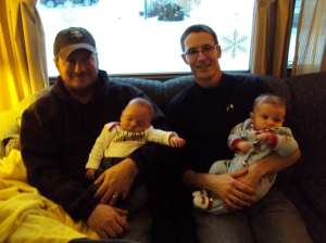 The boys! (Steve with his brother and nephew.)