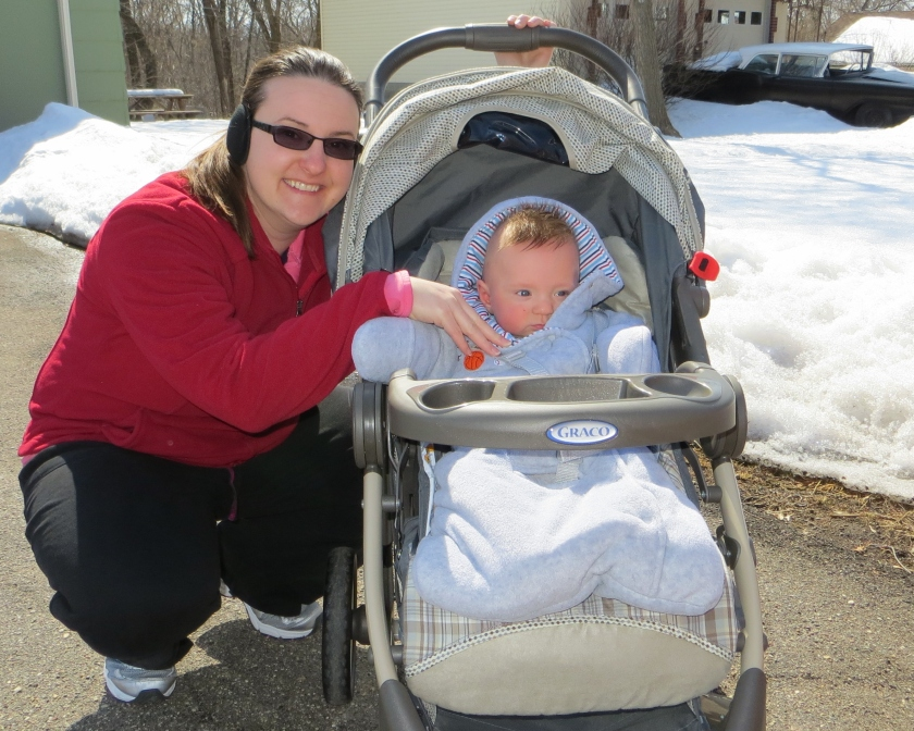 Mom and Jax enjoying some sunshine and fresh air yesterday to celebrate his 8 month birthday!