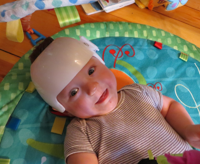 Rocking the helmet (and a good mood)!