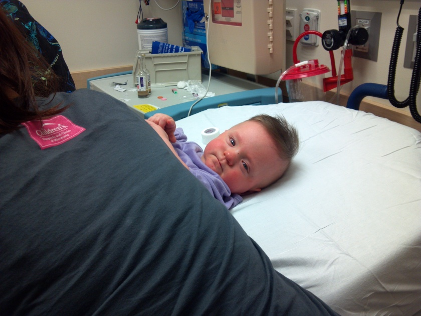 Such a tough little dude! He had a smile for everyone, even though he didn't feel good.