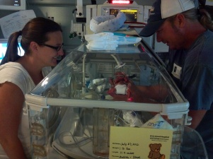 micro preemie born at 23 weeks in incubator