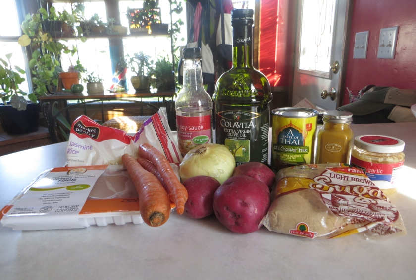 ingredients for chicken curry