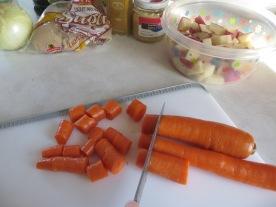 cut carrots