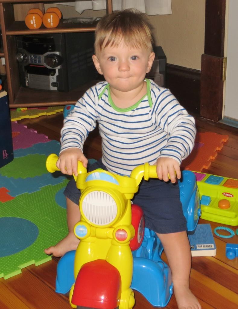 Jax riding his bike