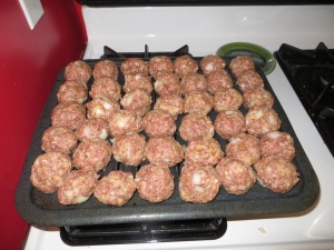 turn the meatballs