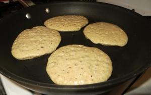 cook until bubbles cover the pancake