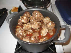 add meatballs to sauce