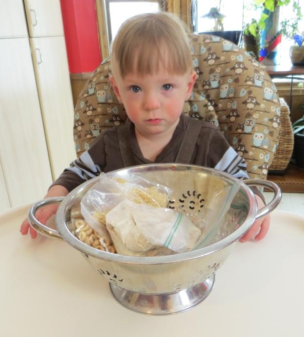 kitchen sensory play