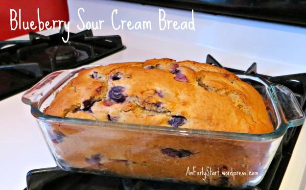 Blueberry Sour Cream Bread at AnEarlyStart.wordpress.com