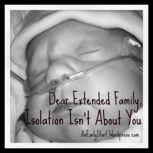Dear Extended Family, Isolation Isn't About You