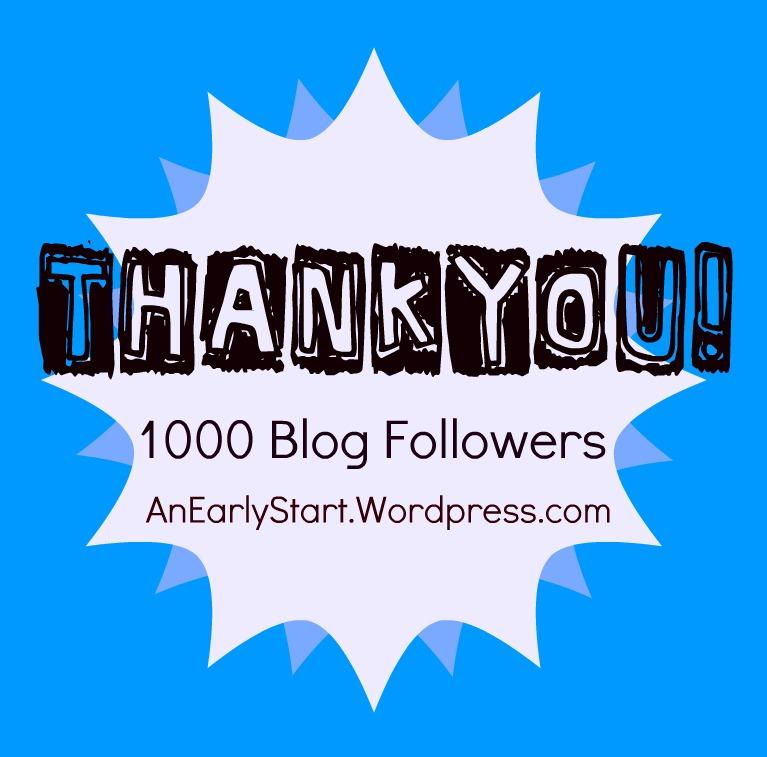 thank you 1000 blog followers