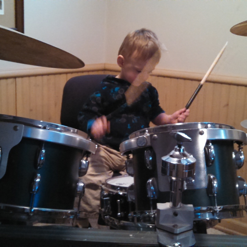 toddler drummer