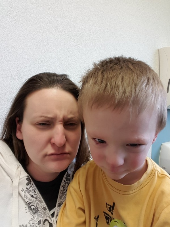 mad face at the doctor